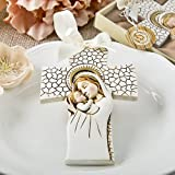 72 Madonna and Child Hanging Cross Ornaments