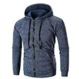 Fashion Stylish Lined Fleece Full Zip Sweatshirt Jackets Outwear-Heavyweight Hoodies for Men (Navy, M)