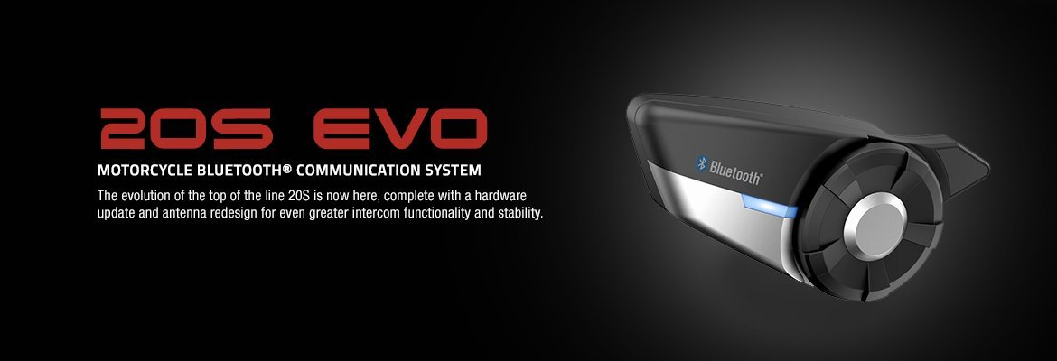 SENA 20S-EVO-01 EVO Bluetooth 4.1 Communication SINGLE System for Motorcycles, 20S-EVO-01