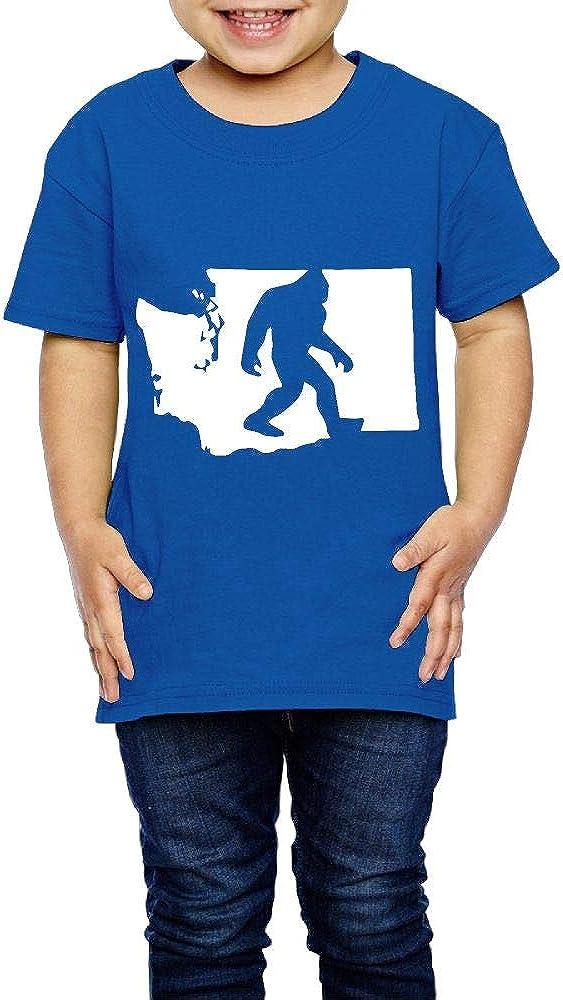 XYMYFC-E Washington State Bigfoot 2-6 Years Old Kids Short-Sleeved Tshirts