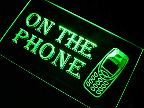 ADVPRO On The Phone LED Neon Sign Green 12
