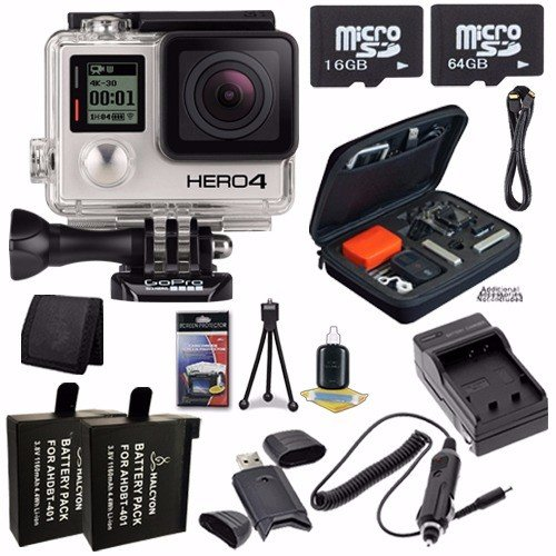 GoPro HERO4 Black Edition 4K Action Camera Camcorder 80GB Bundle 9 by GoPro