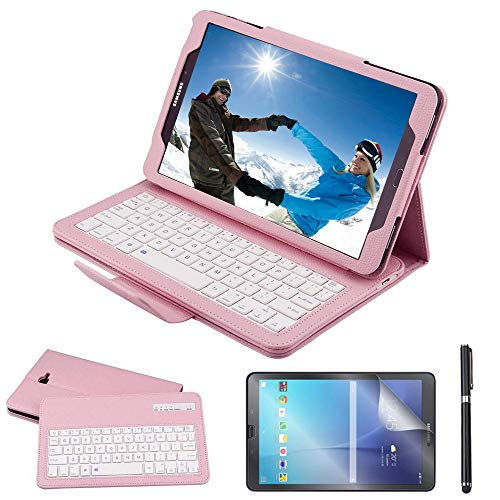 Galaxy Tab A 10.1 2016 Keyboard Case with Screen Protector & Stylus, REAL-EAGLE Slim Separable Fit PU Leather Case Cover Wireless Keyboard for Tab A ...