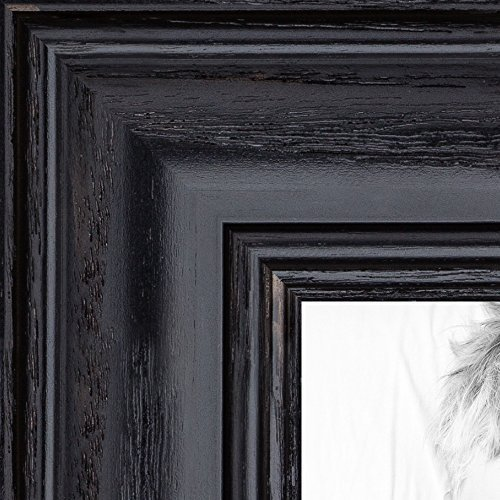 ArtToFrames 16x20 inch Black Stain on Solid Red Oak Wood Picture Frame, WOM0066-59504-YBLK-16x20 - Stain Oak Black