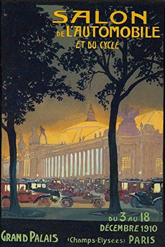 (Salon de l'Automobile Vintage Poster (artist: Lacaze) France c. 1910 (12x18 Art Print, Wall Decor Travel Poster))