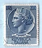 Used Italy Postage Stamp %281954%29 200L