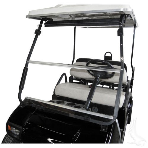 Club Car Replacement Body (Club Car DS 2000.5 to Current Clear Fold Down Impact Resistant Windshield for CC DS 2000.5 to Current Golf Cart)