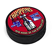 AJ Sports World KYPN10305B Nick Kypreos New York Rangers Autographed 1994 Stanley Cup Puck