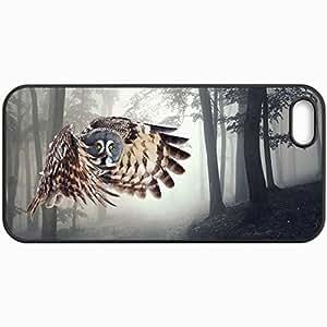 Fashion Unique Design Protective Cellphone Back Cover Case For iPhone 5 5S Case Birds Owl In Flight 30138 Black