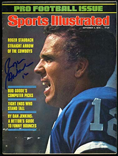 ROGER STAUBACH PSA DNA Coa Autograph 1978 SI Hand Signed