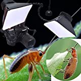 RIEPOR 2PCS camera macro flash soft box 10cm12cm Professional macro Diffuser for Canon Nikon Pentax Sony DSLR Camera (macro softbox)