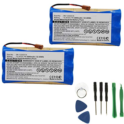 2x 10.8V 3000mAh Replacement Batteries For JMS Infusion Pump OT-701 9N-1200SCK ()