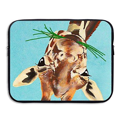Custom Laptop Sleeve 13/15 Inch Ultrabook Zipper Briefcase Glass Giraffe Print Portable Messenger Bag