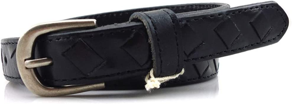 Elegante Cinturón reversible de cuero para mujer Correa de cuero trenzada doble de las señoras Correa de las mujeres ocio de todo fósforo para los pantalones de vestir elegante ( tamaño : METRO )