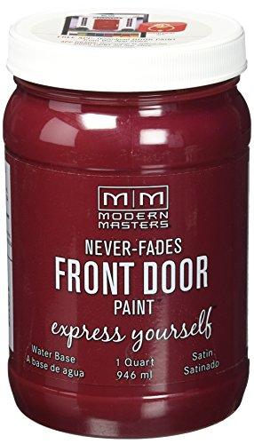 Modern Masters 275268 Front Door Paint, 1 Quart, Satin Passionate (Best Way To Paint A Metal Door)