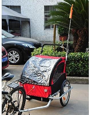 aosom Elite II 3 in1 Doble Remolque para Bicicleta de niño: Amazon ...