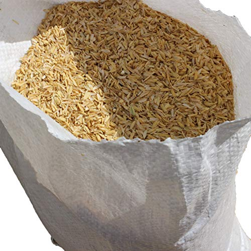 Rice Hulls - Organic Use - 5lb Bag, House Plants, Gardening, Chicken Bedding Nesting (Rice Hull Garden)