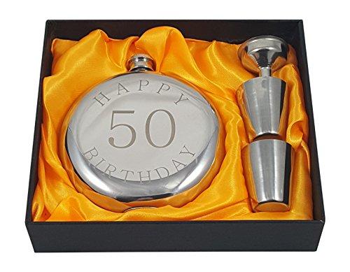 Happy 50th Birthday Flask Gift Set