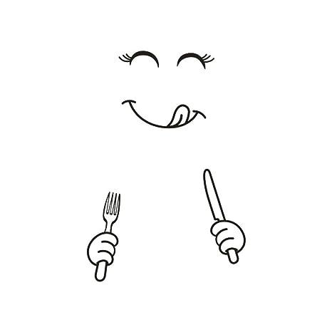 Amazon.com: Pegatinas para nevera, pausseo, diseño de cara ...
