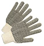 PVC-Dot String-Knit Gloves, Men's, Knit-Wrist, Natural White, Dots 2 Side (156 Pack)