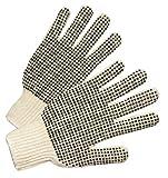PVC-Dot String-Knit Gloves, Men's, Knit-Wrist, Natural White, Dots 2 Side (240 Pack)