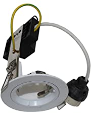 20 x 70mm White Fixed GU10 Downlight Frames Compatible to LED Globes