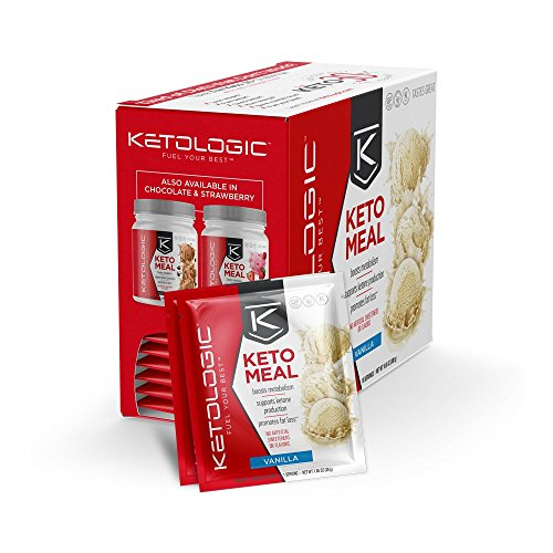 KetoLogic Keto Meal Replacement MCT Shake – Promotes Weight Loss/Suppresses Appetite/Low Carb – Vanilla, 10 Servings