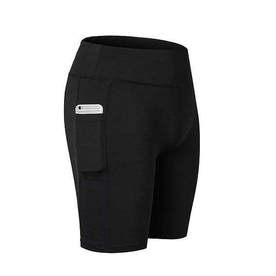 SWISSWELL Damen Joggen Shorts Sport Kurze Leggings Fitness Tights Yoga Shorts Kurze Hosen Mesh Radlerhose Hot Pants Hipster W