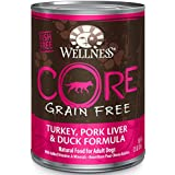 Wellness Core® Natural Wet Grain Free Canned Dog Food, Turkey, Pork Liver & Duck, 12.5-Ounce Can (Pack of 12)