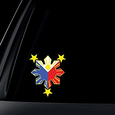 World Design Philippine Flag Sun Car Decal/Stickers: Everything Else