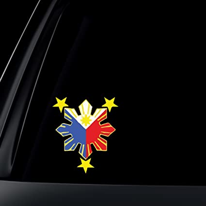Philippine flag sun car decal stickers