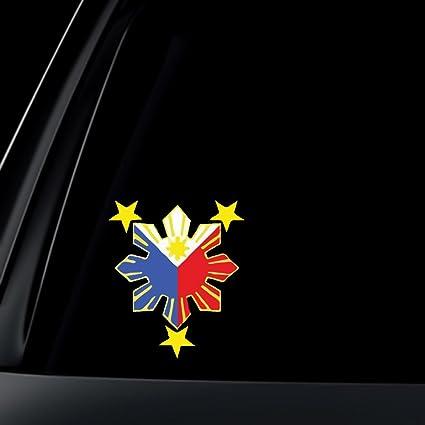 Philippine flag sun car decal stickers