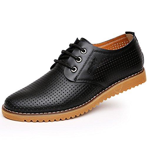 Zapatos Negocios De Hombres Black para Huecos Zapatos Casuales Verano Transpirables Sandalias De HEfq7zx7wF