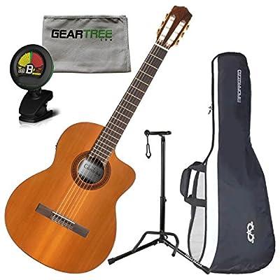 Cordoba C5-CE Electric Nylon String Guitar w/Cloth, Stand, Tuner, and Gig Bag