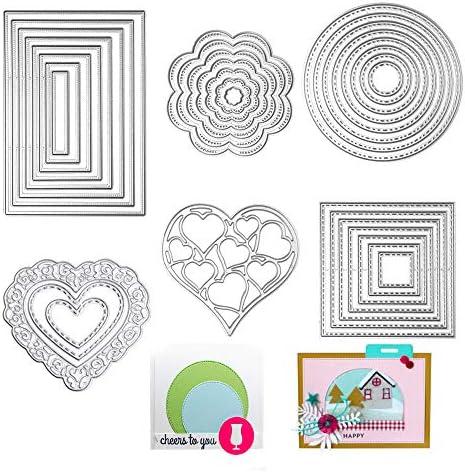 Metal Cutting Dies Flower Circle Square Star Heart Rectangle Scrapbook Template