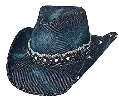 Better Than Yesterday Blue Denim Western Hat Small