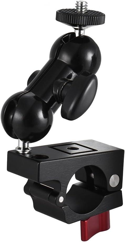 Leepesx Pince de Rod 25mm avec Bras de Friction Articul/é Mont 360 /° Rotation Libre avec Filetage de 1//43//8 Double Rotule pour DJI Ronin-M//Ronin-MX pour MOZA Lite 2 pour Freefly MoVI