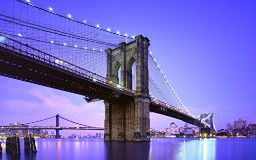 Brooklyn Bridge Canvas With Led Lights - 1