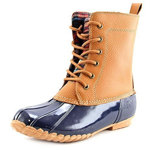 Sporto Women's Dede Leather Boots, Tan/Navy, 10 (Sporto Boots Rain)