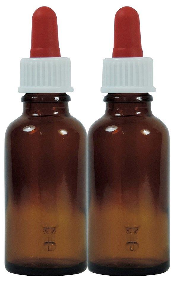 Viva Haushaltswaren nbsp;- 2 frascos cuentagotas de Vidrio, para Farmacia, Color Marrón, Vidrio, Marrón, 30 ML: Amazon.es: Hogar