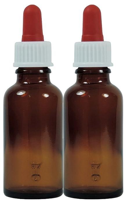 Viva Haushaltswaren nbsp;– 2 frascos cuentagotas de Vidrio, para Farmacia, Color Marrón