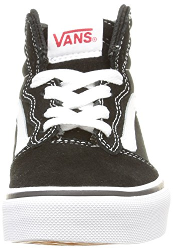 Vans - Milton Hi, Zapatillas Niños, Negro (suede Canvas/black/white), 38 EU Suede Canvas/Black/White