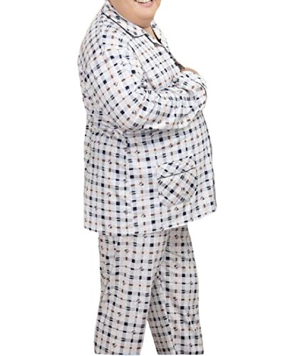 Cheap SportsX Men's Add Fertilizer Plus Size Plaid 2Pcs Pajama Lounge Set PJS free shipping