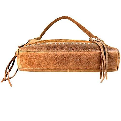West Hobo 6031 LEA Delila Leather Hair Montana Brown by Handbag and ta1Hwq0