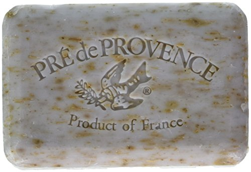 Vegetable French Milled Soap - Pre de Provence Artisanal French Soap Bar Enriched with Shea Butter, Quad-Milled For A Smooth & Rich Lather (250 grams) - Lavender