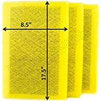 Ray Air Supply 10x20 MicroPower Guard Air Cleaner Replacement Filter Pads (3 Pack) YELLOW
