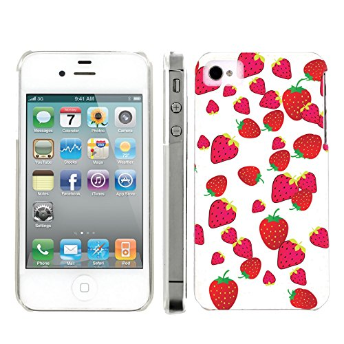 Mobiflare, Slim Clip-on Phone Case, for [iPhone 4 and 4S] - Strawberries