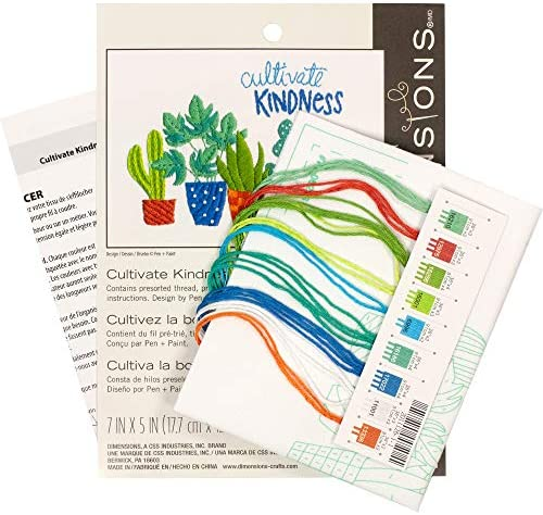 Dimensions 71-06253 Cultivate Kindness Flower Embroidery Kit 5 x 7