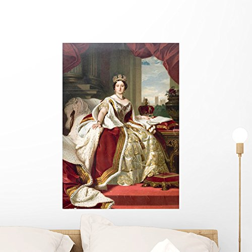 Wallmonkeys Painting Winterhalter Queen Victoria Wall Mural by Peel and Stick Graphic (24 in H x 17 in W) WM83828