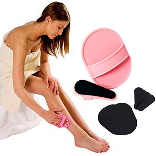Smooth Legs Skin Pads,Gofypel Exfoliating Hair Removal Exfoliator Pad Sets Arm Face Upper Lip Hair Removal Remover Exfoliator Epilator Tools
